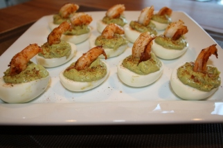 Plated Deviled Eggs